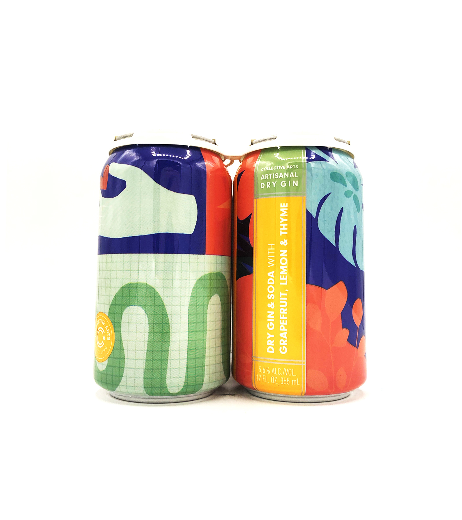 Collective Arts Distilling Dry Gin & Soda Grapefruit Lemon & Thyme 12oz (can)