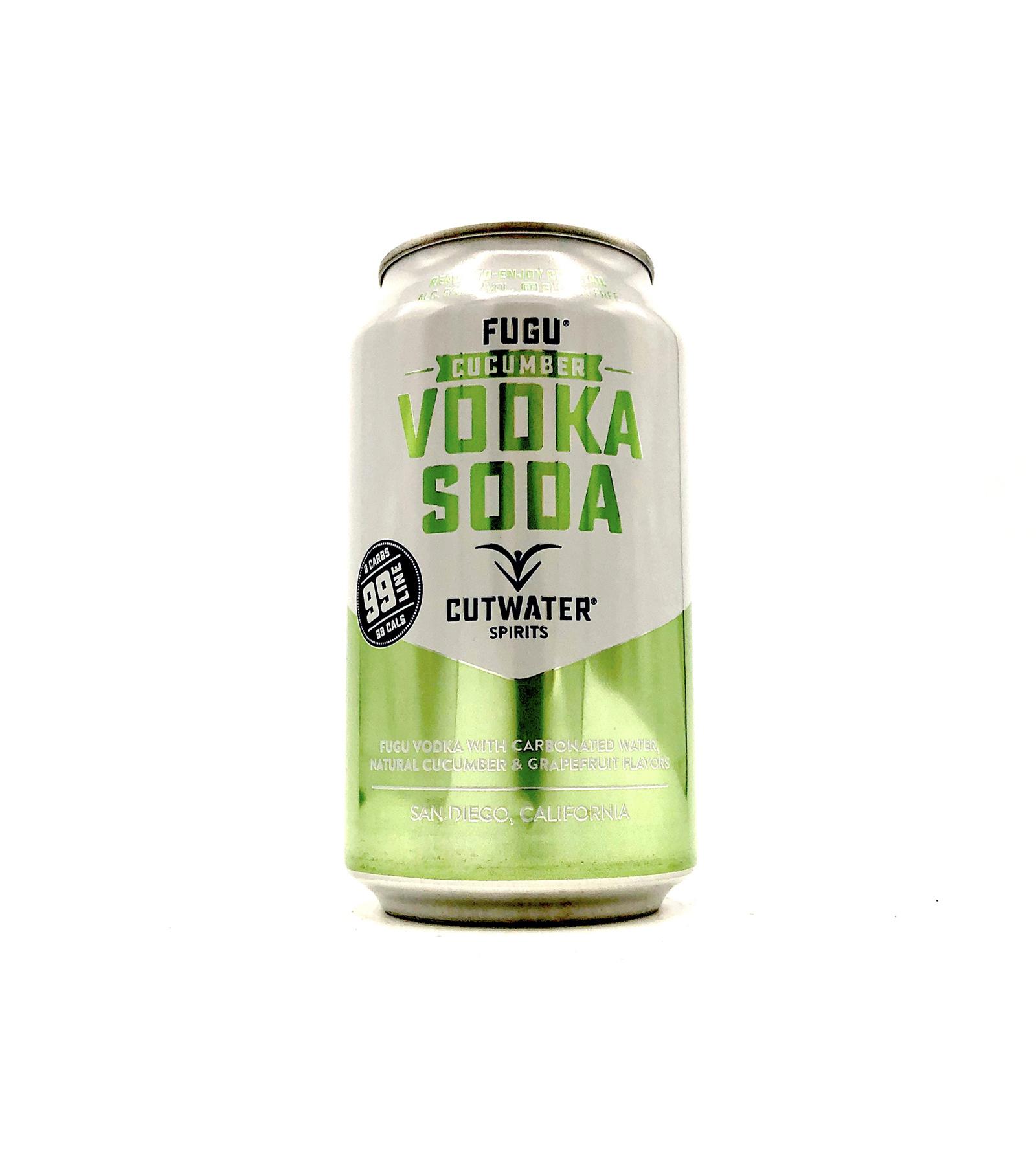 Fugu Cucumber Vodka Soda 12oz (can) Cutwater