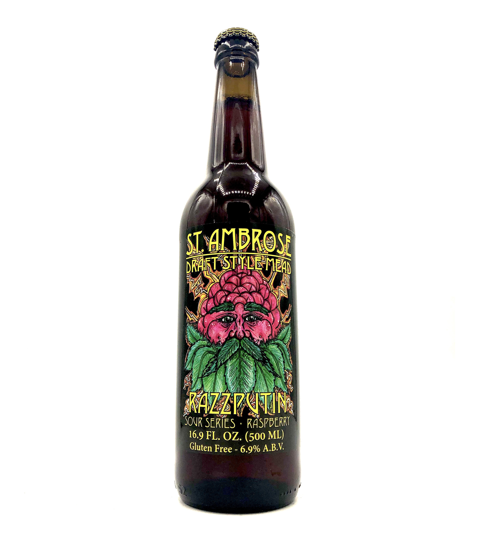"""Razzputin"" Sour Raspberry Mead 500ml St. Ambrose Cellars"