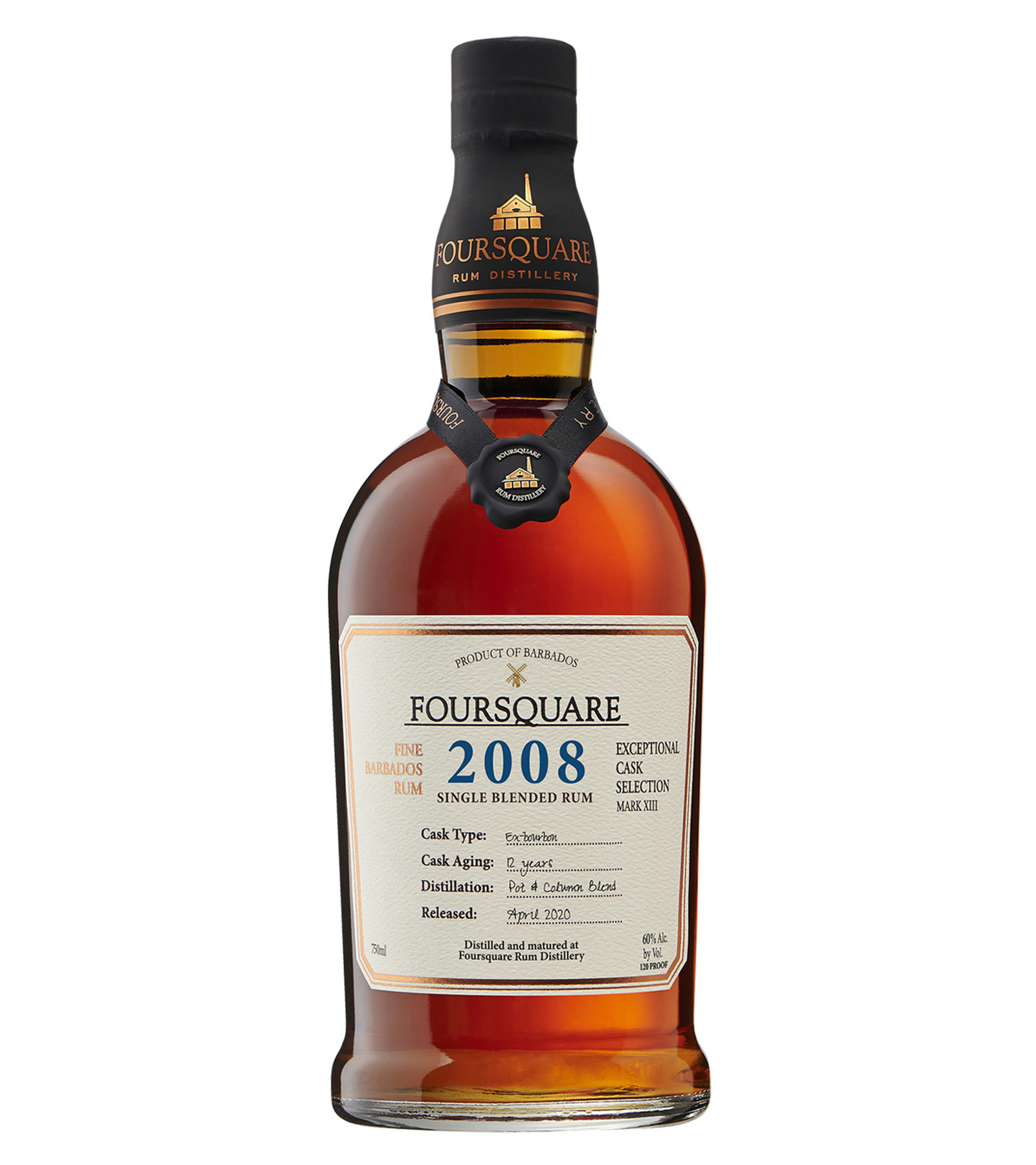 Rum Single-Blended Barbados 2008 Foursquare