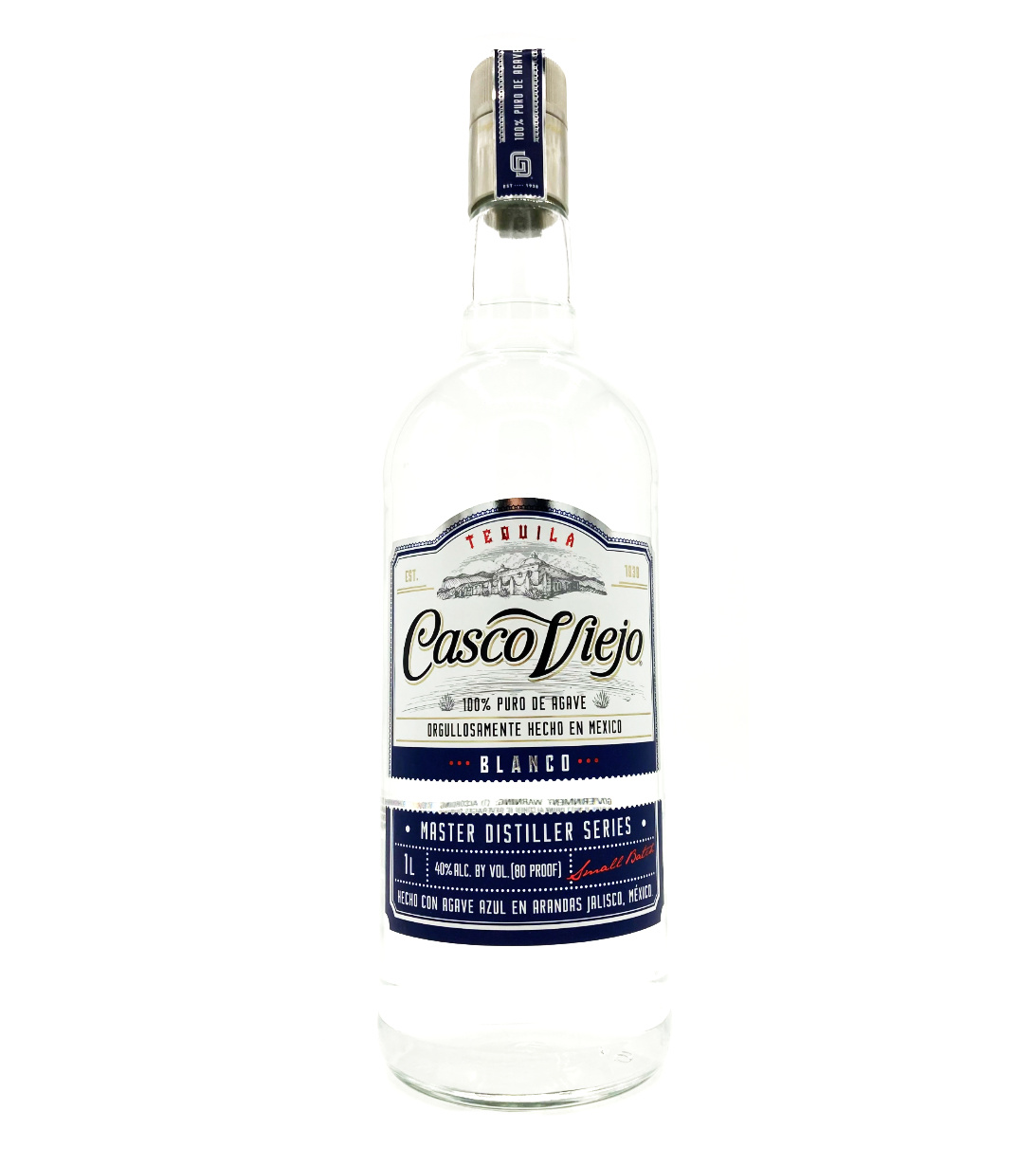 Tequila Blanco 1L Casco Viejo