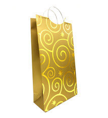 Pattern 2-Bottle Wine Bag Gold