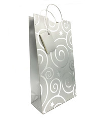 Pattern 2-Bottle Wine Bag Silver