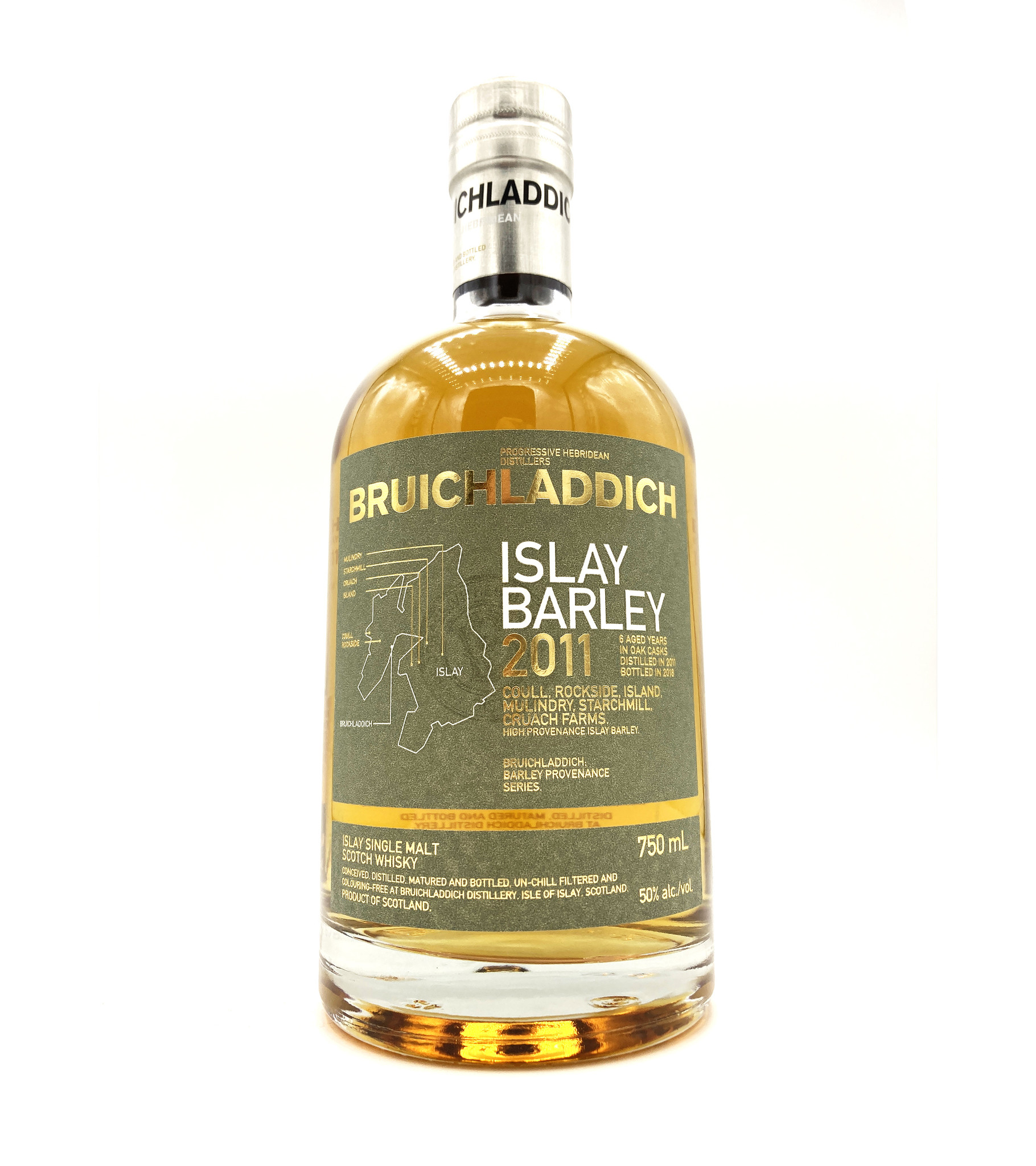 Bruichladdich 6 Year Unpeated Islay Barley Scotch