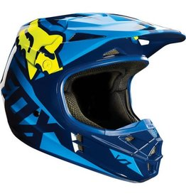 FOX RACING V1 race helmet blue yellow