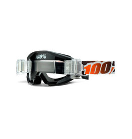 100% Google 100% Strata Mud Black/Mandarina Clear Lens