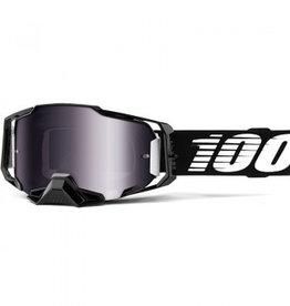 100% Goggle 100% Armega Black Silver Lens