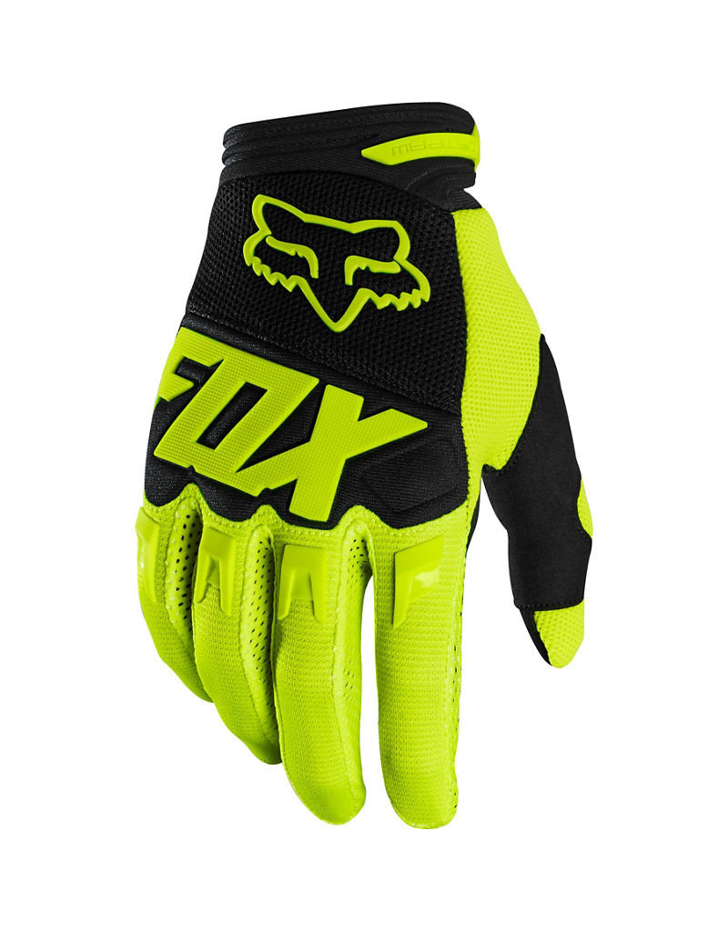 FOX RACING YTH DIRTPAW GLOVE - RACE FLO YLW