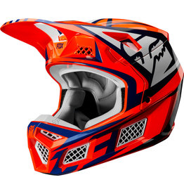 FOX RACING V3 IDOL HELMET ORG/BLU
