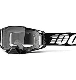 100% Goggle 100% Armega Black  Clear Lens