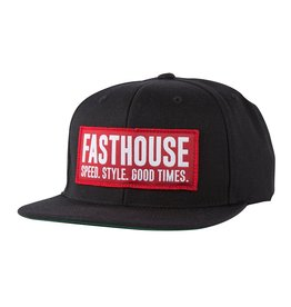 Fasthouse Fasthouse Block House  Hat  Red Black