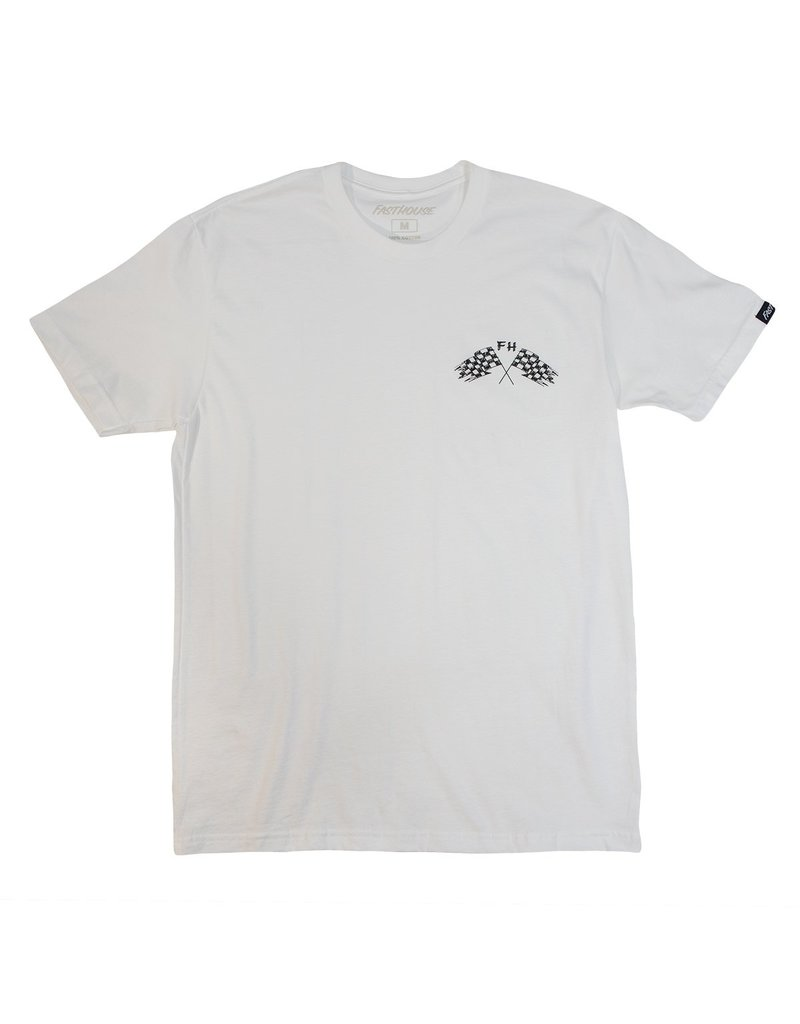 Fasthouse Fasthouse Finish Line Tee White