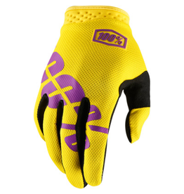 100% I-Track Gloves Yellow