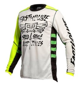 Fasthouse JERSEY FASTHOUSE GRINDHOUSE TRIBE WHT/HIGH VIZ