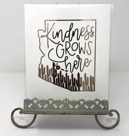 Sweetpeet Lettering Copper Foil Print 8 x 10 - Kindness Grows