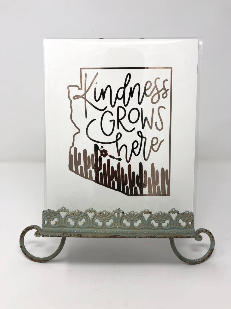 Sweetpeet Lettering Copper Foil Print 8 x 10 - Kindness Grows