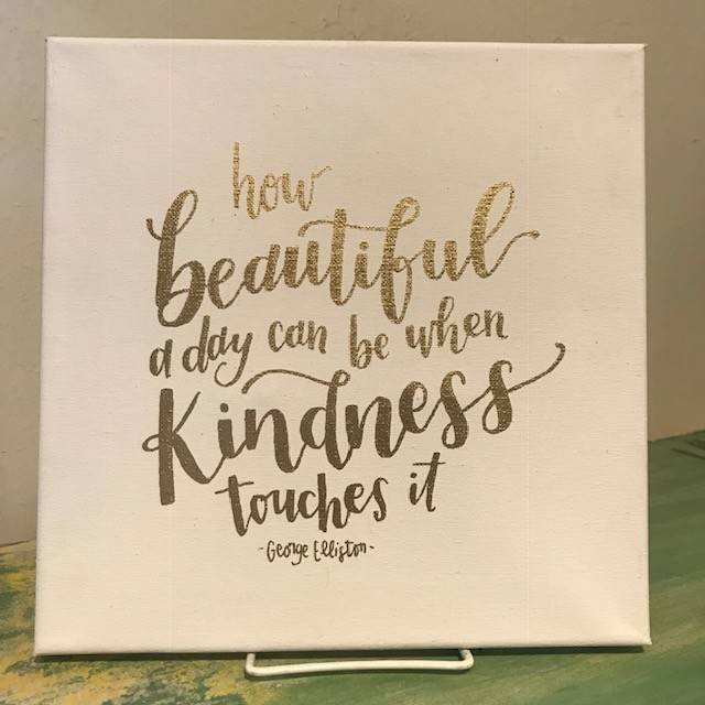 Sweetpeet Lettering Kind Quote Sign - Canvas