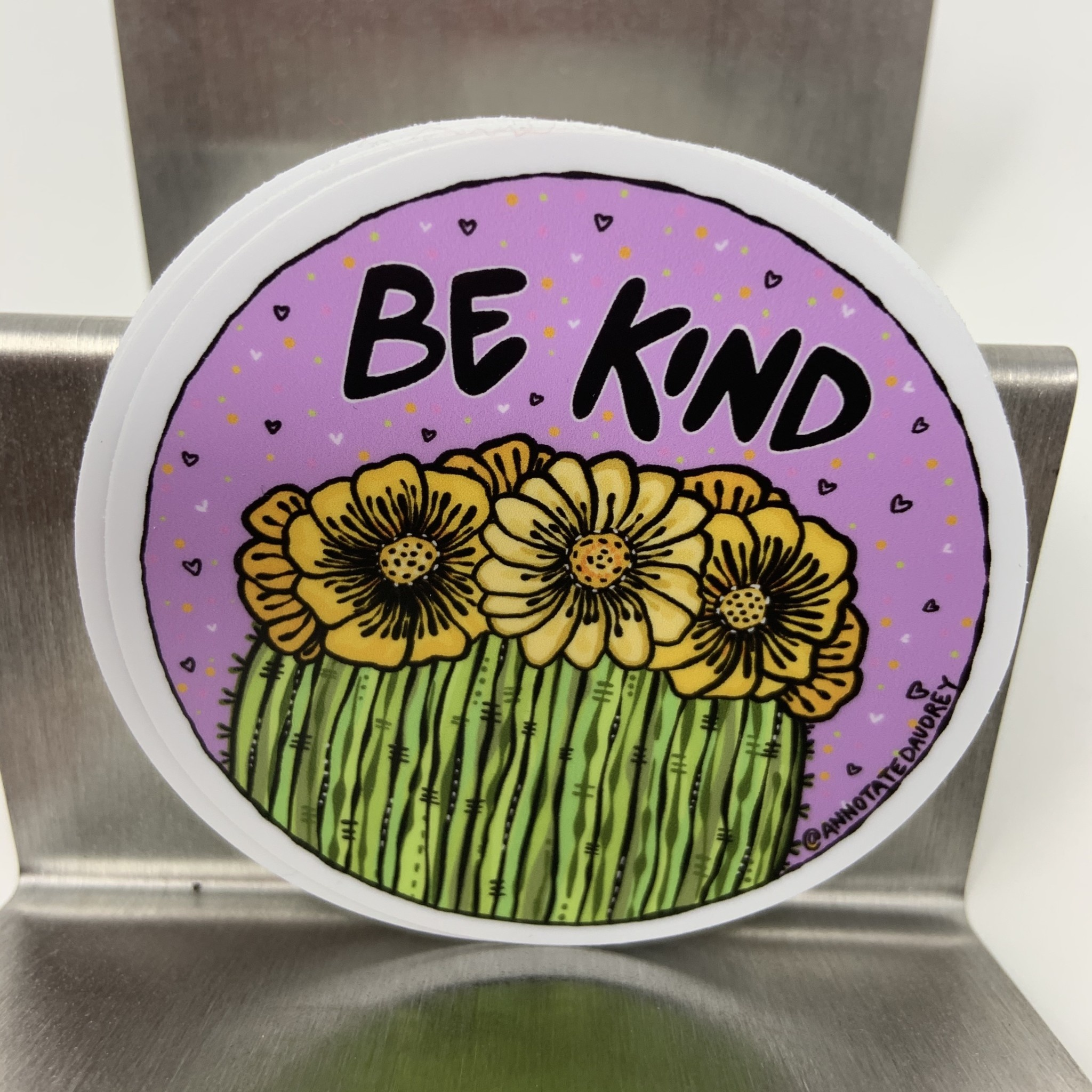 Vinyl Sticker - Be Kind Cactus