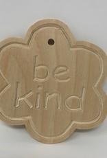 DIY Wooden 'be kind' FlowerCutout