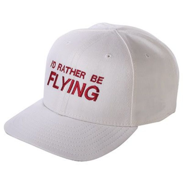 Cap I'd Rather Be Flying White