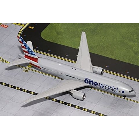 B777-200ER American Airlines oneworld 2013 livery 1:200 with stand