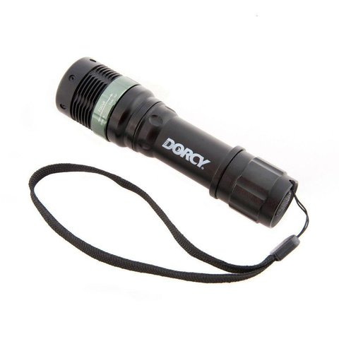 Flashlight LED Focus 130 Lumens green / red/ white(3 x AAA batteries - included)