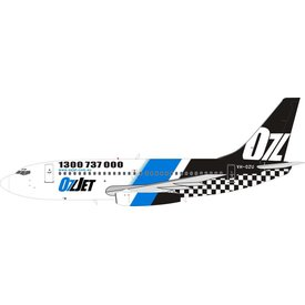 InFlight B737-200 OZJET VH-OZU 1:200 with stand