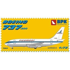 Big Planes Kits (BPK) B737-200 PIEDMONT 1:72 (ADVANCED) PLASTIC KIT