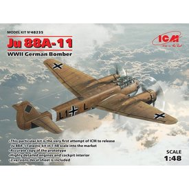 ICM Model Kits JU88A11 1:48 SCALE PLASTIC KIT