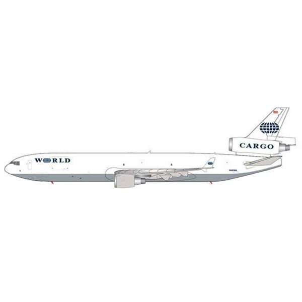 JC Wings MD11F World Airways Cargo N381WA 1:200 with stand