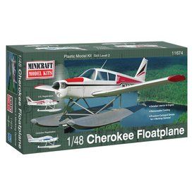Minicraft Model Kits MINICRAFT PIPER CHEROKEE ON FLOATS 1:48 SCALE KIT (New tooling)