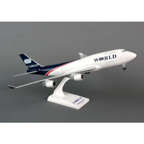 747-400BCF World Airways 1:200 with stand + gear