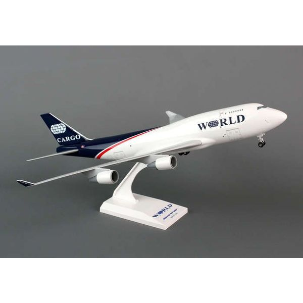 SkyMarks 747-400BCF World Airways 1:200 with stand + gear