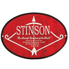 Sporty's Stinson Metal Sign