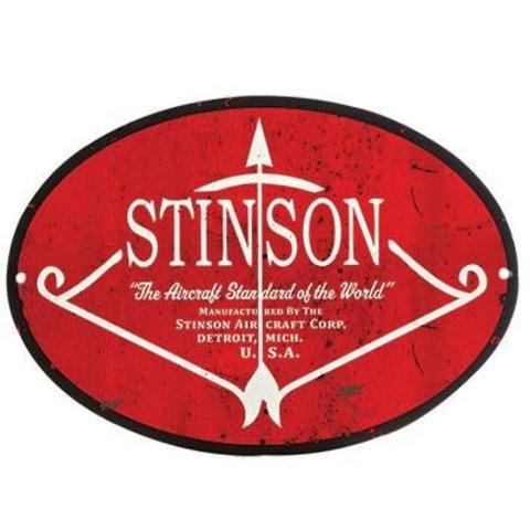 Stinson Metal Sign