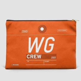 """Airportag Sunwing WG Pouch Bag 6"""" x 8"""""""