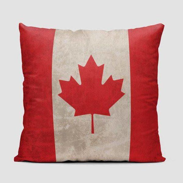 Airportag Canadian Flag Throw Pillow