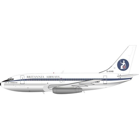 B737-200 Britannia Airways G-AXNB 1:200 with stand