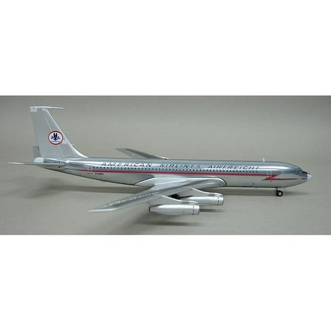 B707-300 American Airlines Airfreight Old Livery 1:200 polished with stand