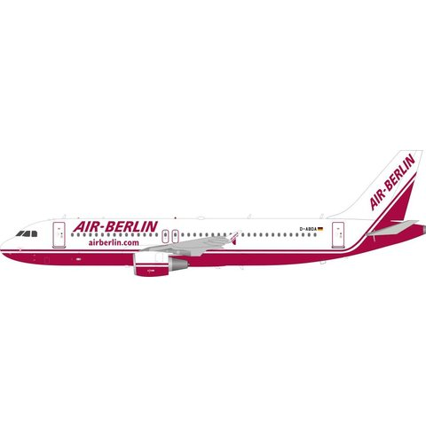 A320 Air Berlin old livery D-ABDA 1:200 with stand