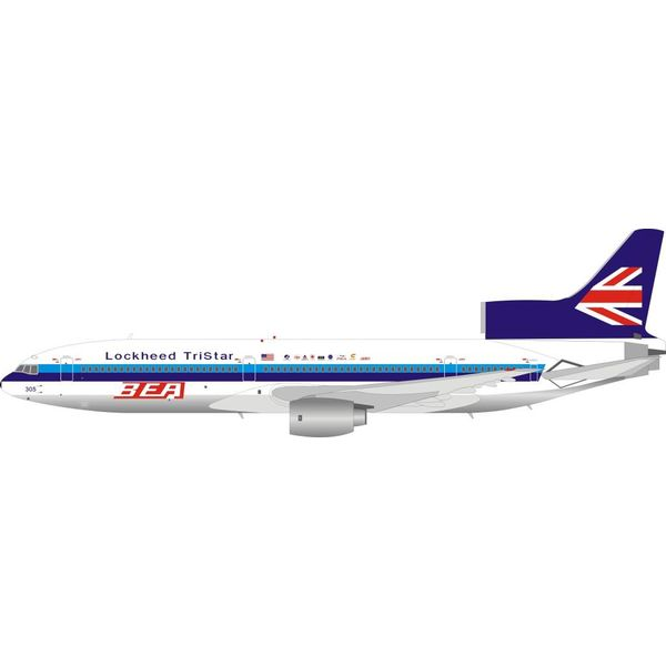InFlight L1011 Lockheed Tristar BEA N305EA 1:200 polished with stand