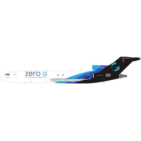B727-200 zero G weightless experience N794AJ 1:200 with stand