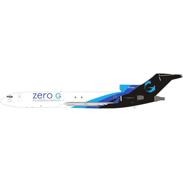 InFlight B727-200 zero G weightless experience N794AJ 1:200 with stand