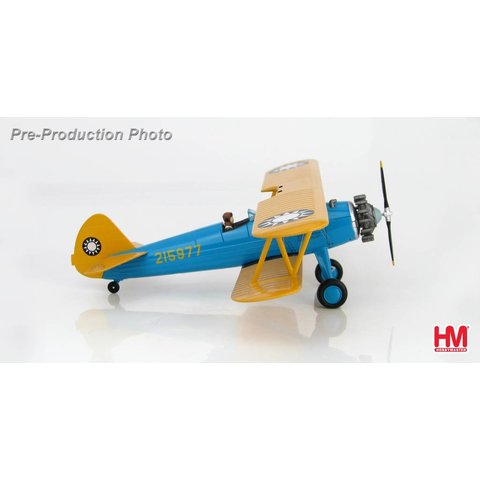 Stearman PT17 Kaydet Chinese Air Force 215977 1:48 with stand & Figure