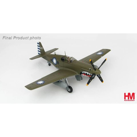 P51C Mustang 32 Squadron Chinese Air Force 648 1945 1:48 with stand