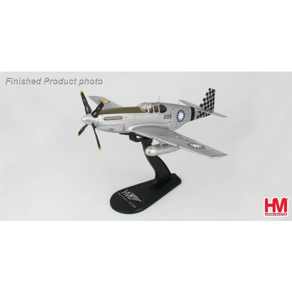 Hobby Master P51C Mustang No.25 Squadron Chinese Air Force 205 1945 1:48 with stand
