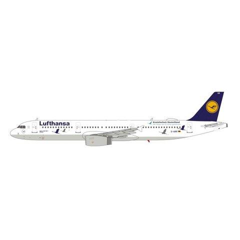 A321 Lufthansa D-AIRR Wismar Kranichschutz Deutschland Cranes 1:400