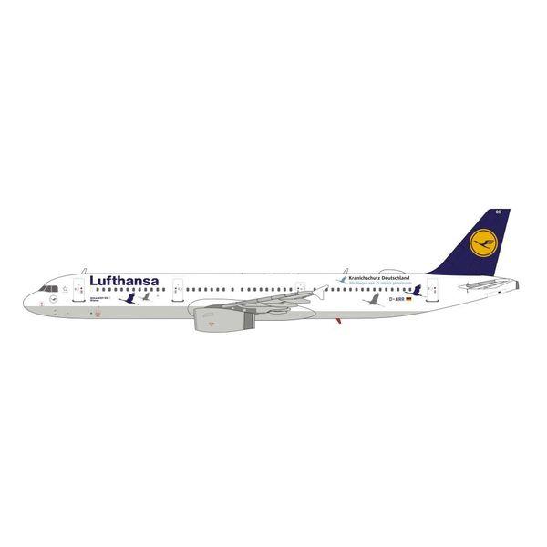 HYJL Wings A321 Lufthansa D-AIRR Wismar Kranichschutz Deutschland Cranes 1:400