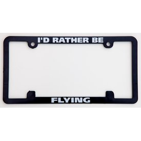 avworld.ca Licence Plate Frame - I'd Rather Be Flying