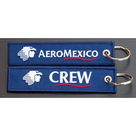 avworld.ca Key Chain Aeromexico CREW Embroidered